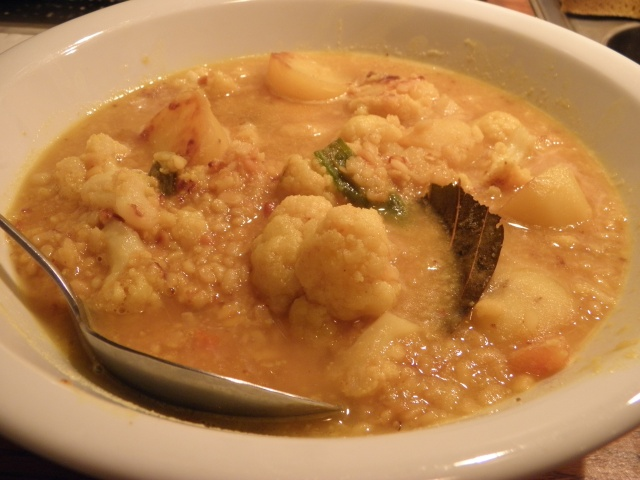 Mung dal with Cauliflower & Potato