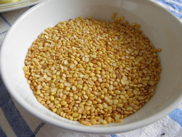 Roasted mung dal