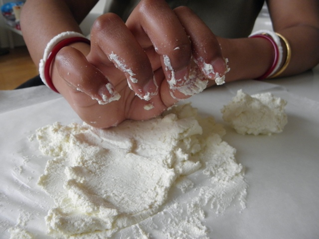 Kneading of chena with pulm