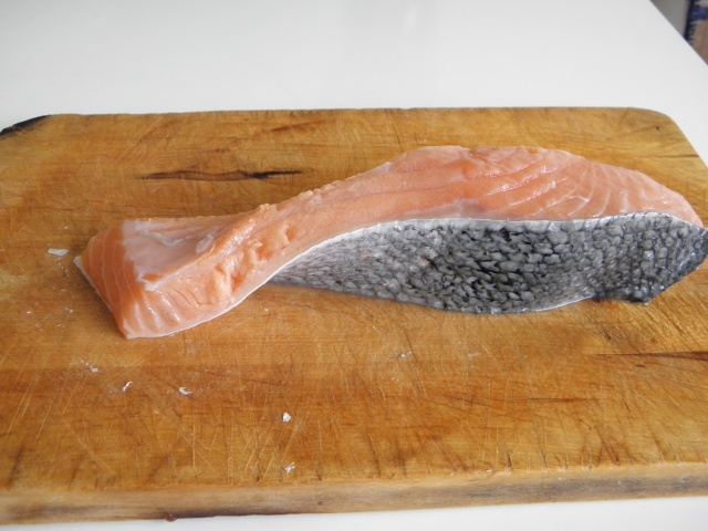 A large piece of Salmon