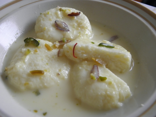 Delicious Rasmalai or Roshomalai