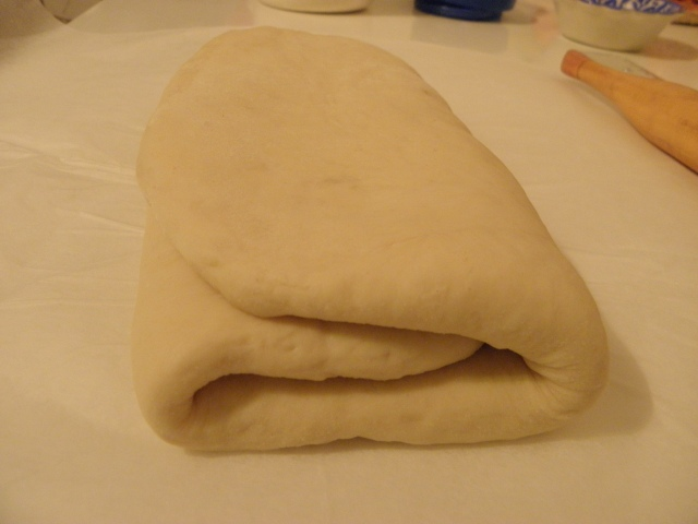 Fold the dough like this and refrigerate for min. 6 hrs.