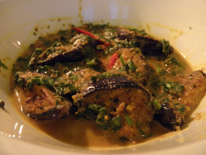 Beguner jhal or Brinjal in mastard curry