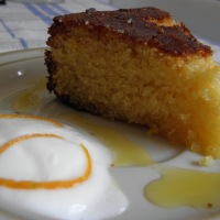 Moroccan Orange & Almond Cake (A semolina cake without flour)
