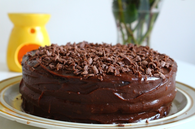 Chocolate Fudge Cake is ready to be served