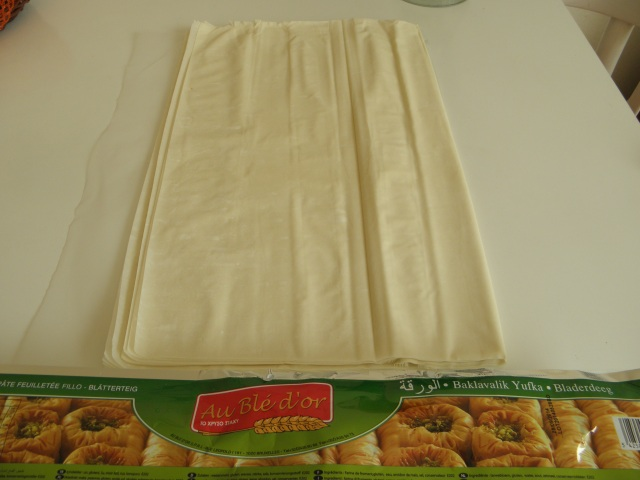 Baklava sheet or thin phyllo pastry