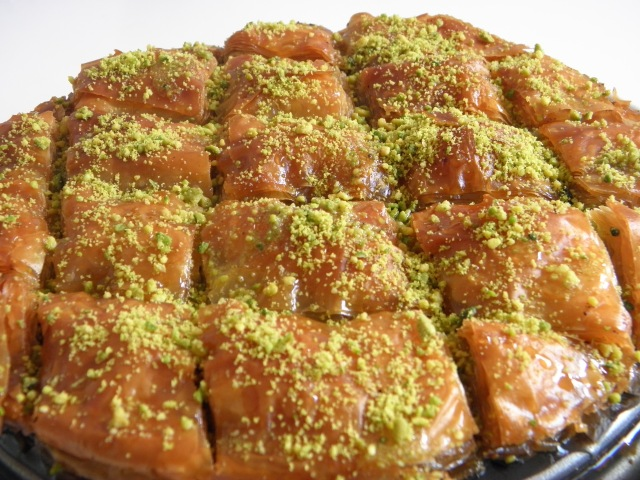Delicious baklava is ready to be served