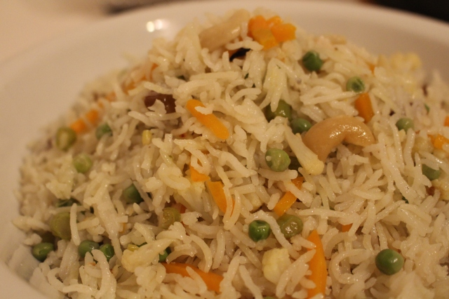 Vegetable pulao is ready to be served