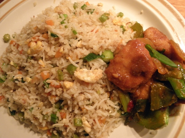 Fried rice with Chilli Chicken