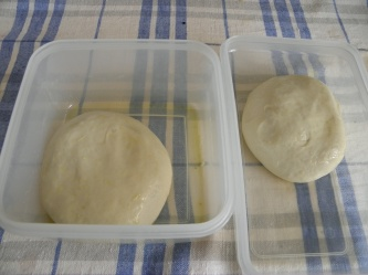 Pizza dough befor rising