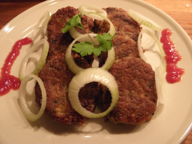 Delicious Shami kebab is ready to be served