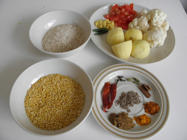 Ingredients for Khichuri