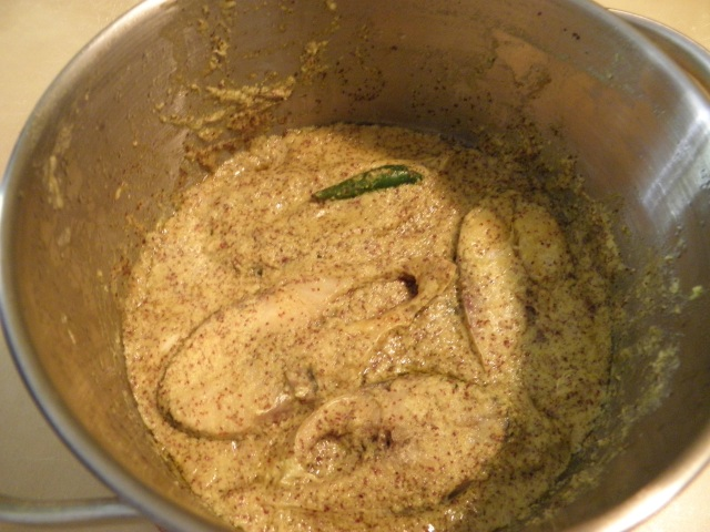 Bhapa ilish is ready to be served