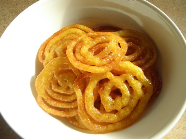 Jalebi is ready to be served