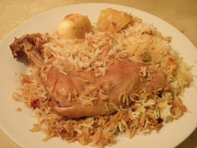 Chicken Biryani is ready to be served