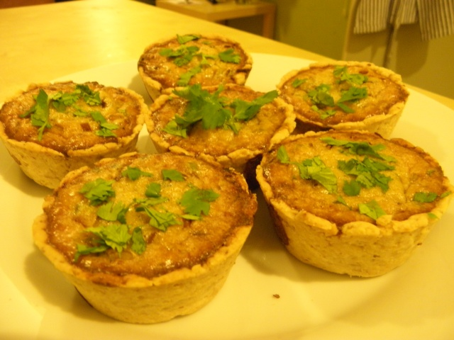 Blue cheese & Walnut tartlets are ready to be served