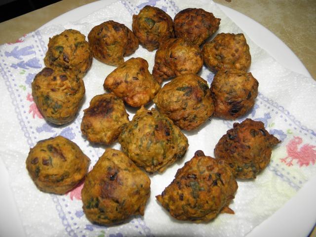 Spinach pakora/dumpling