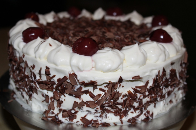 Black Forest Cake is ready to serve