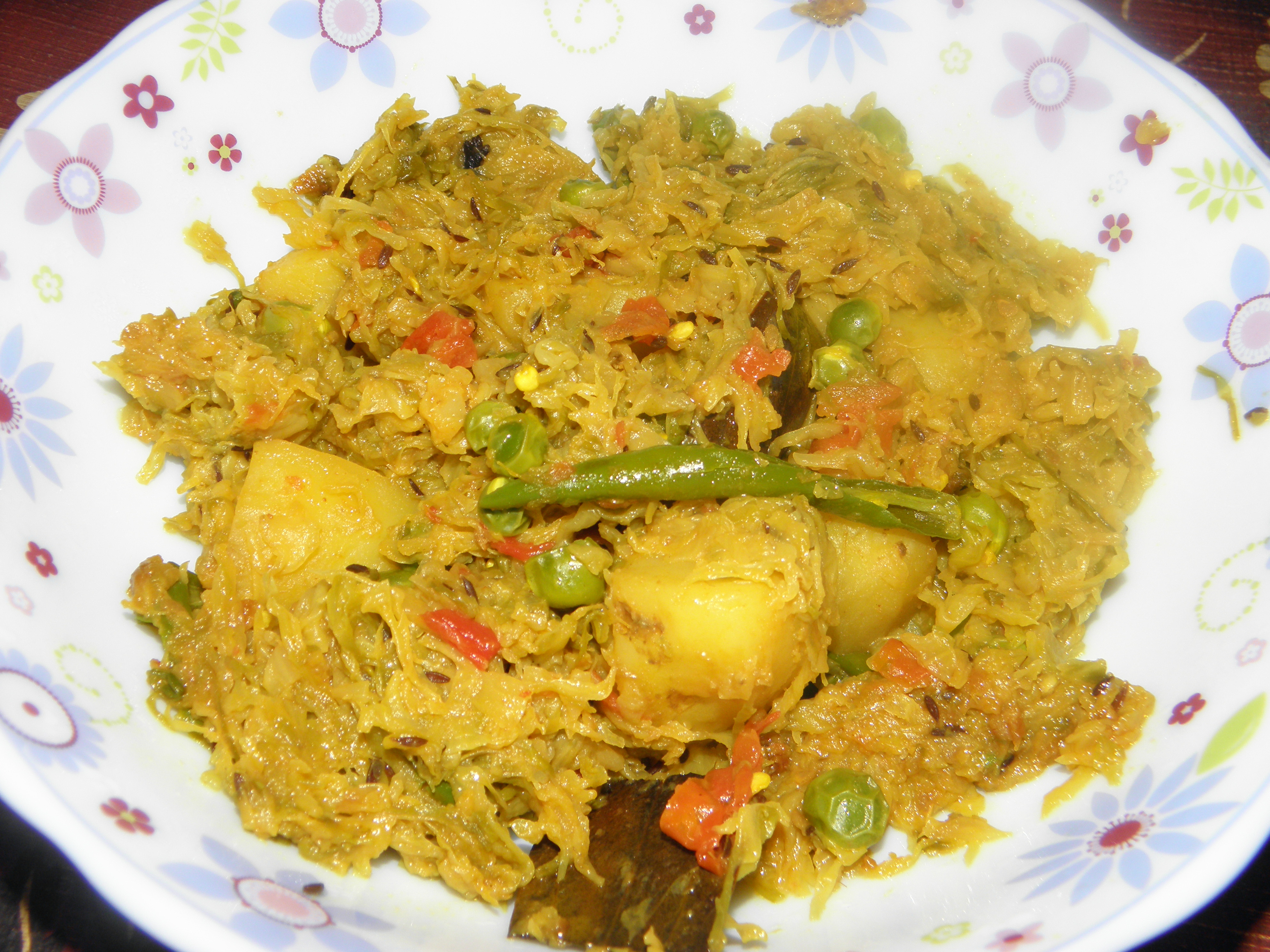 Bandhakopir Tarkari or Dry Cabbage Curry | Cooking Delight