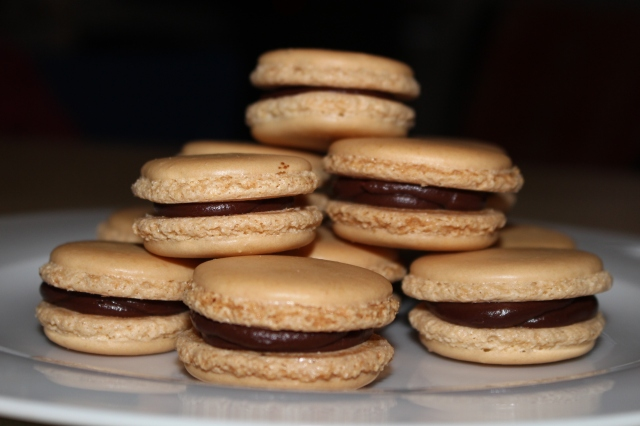 Almond Macarons filled wit Chocolate Ganache