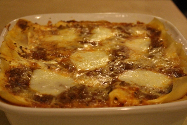 Lasagne is ready to serve