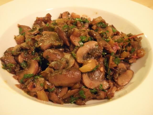 Dry Mushroom Curry