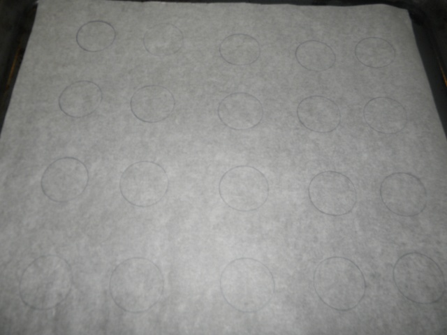 Parchment paper marked with circles