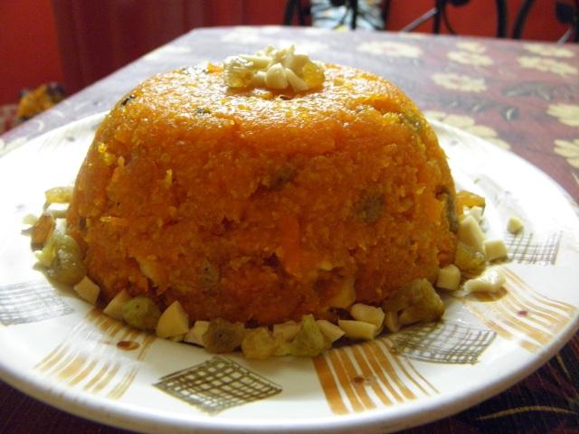 Ganjorer halua or Carrot halwa