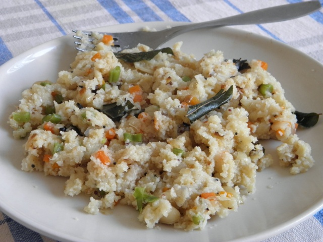 Vegetable Upma or Nonta Suji