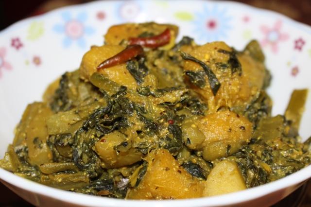 Pui Sag (Malaber Spinach) chachchori