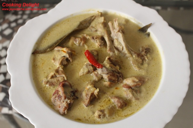 Mutton Rezala is ready to serve