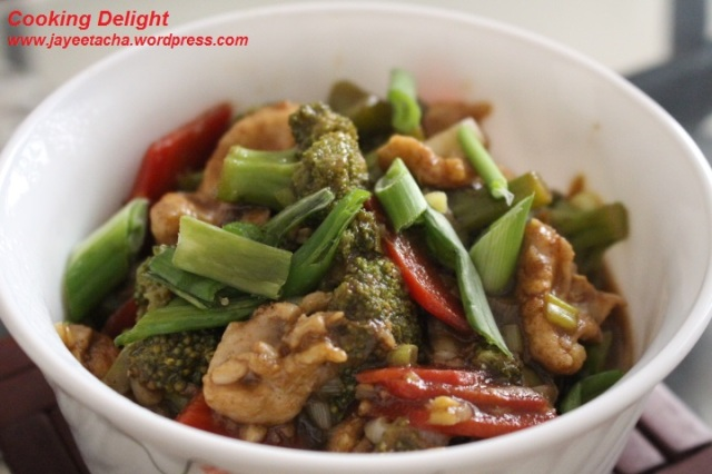 Stir Fried Chicken with Broccoli & Carrot
