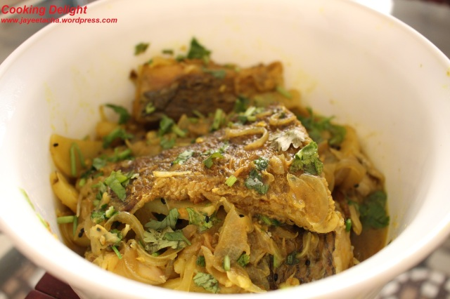 Tilapia fish curry
