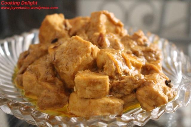 Chanar Dompokt ('Dum' cooked Paneer)