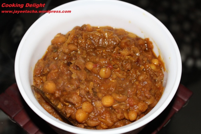 Keema Ghugni is ready to be served