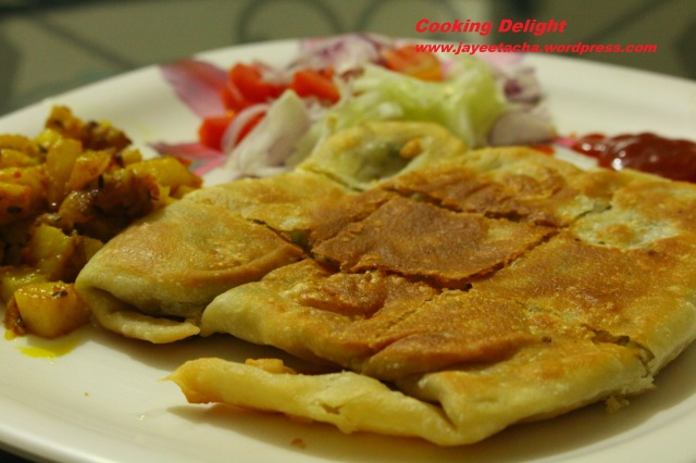 Mughlai Paratha with Spicy Potato Mixture