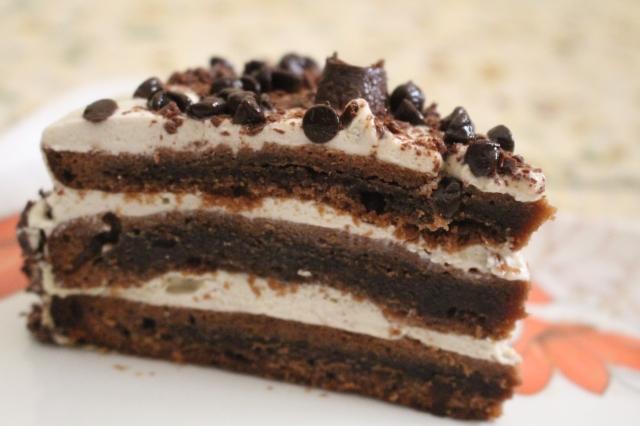 Pie of delicious 'Mocha Layer Cake'