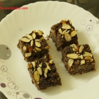Chocolate Kalakand with Condensed Milk (Milkmaid)