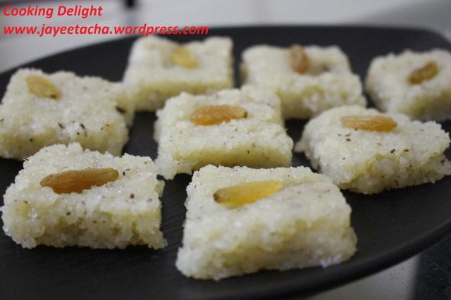 Coconut Mawa Barfi