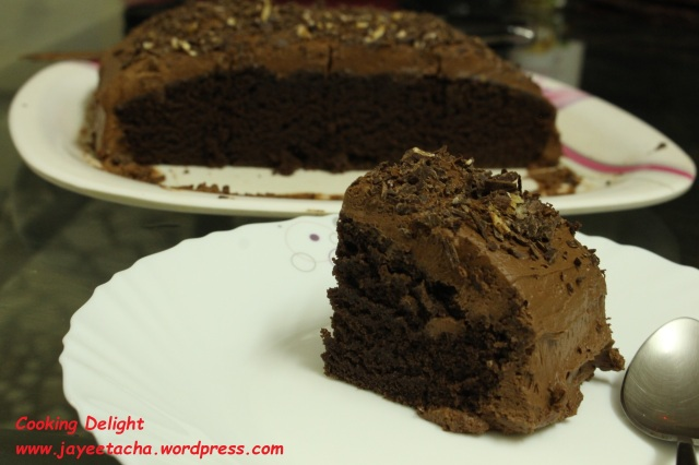 Egg-less Chocolate Cake